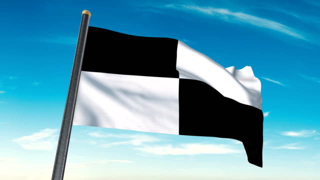 checkered flag waving. luma matte provided so you can put your own background. - circuito di daytona video stock e b–roll