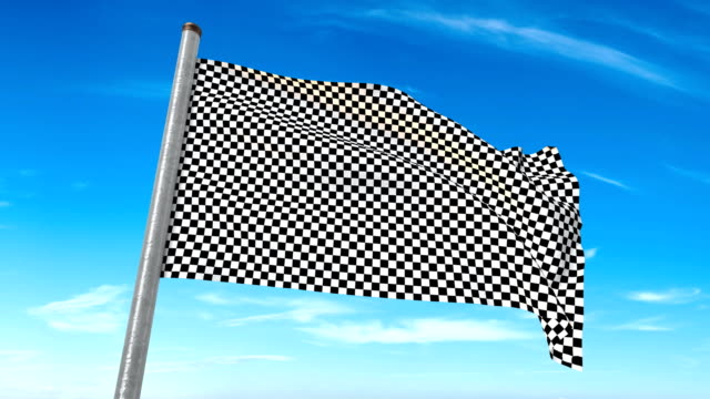 Checkered Flag weaving. Luma matte provided so you can put your own background.