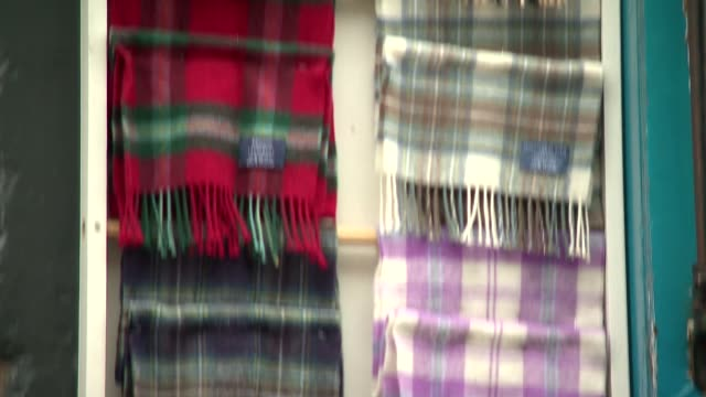 checkered scarves - shawl stock videos & royalty-free footage