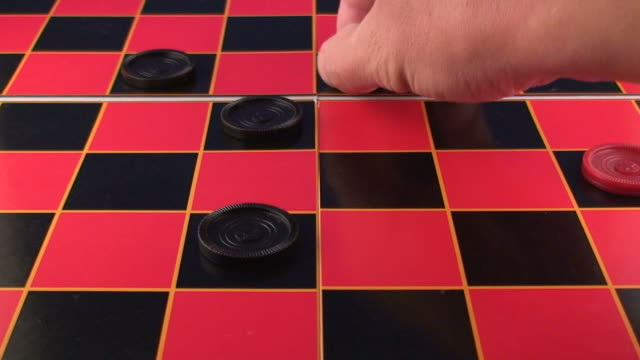 hd checkers video - draughts stock videos & royalty-free footage