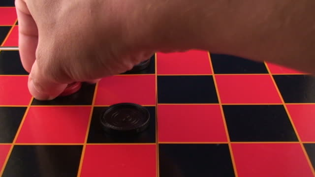 checkers video - draughts stock videos & royalty-free footage