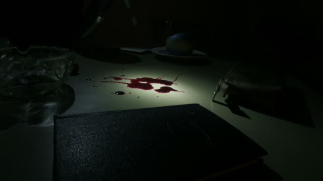 csi checking blood - forensic science stock videos & royalty-free footage