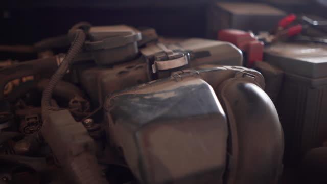 checking car engine - piston stock videos & royalty-free footage