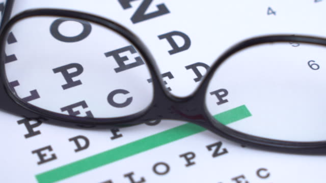 checking eyes with ophthalmologist equipment,showing letters on chart, focused - lens optical instrument stock videos & royalty-free footage