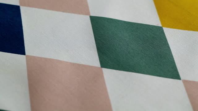 ecu pan checking table cloth / seoul, south korea - decor stock videos & royalty-free footage