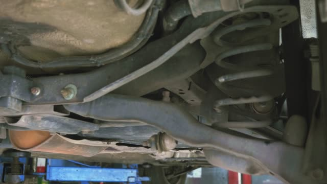 Checking undercarriage vehicle or Automobile.