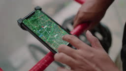 Checking your location on a mobile phone