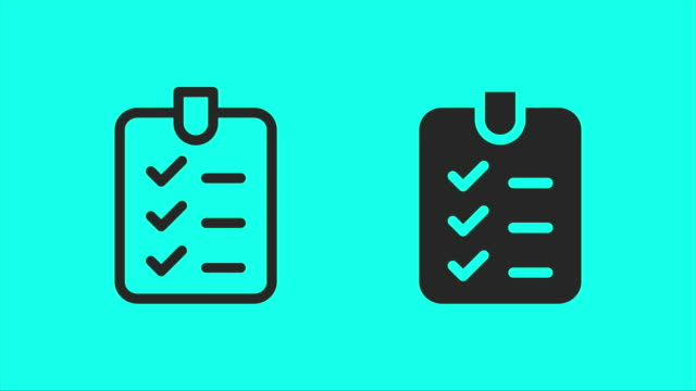 Checklist Icons - Vector Animate