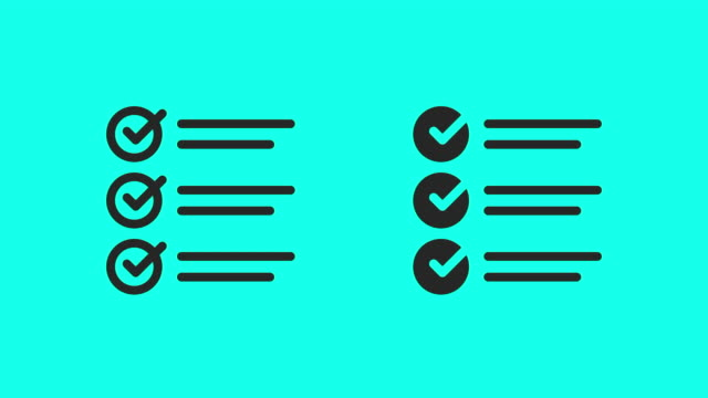 checklist icons - vector animate - global communications vector stock videos & royalty-free footage
