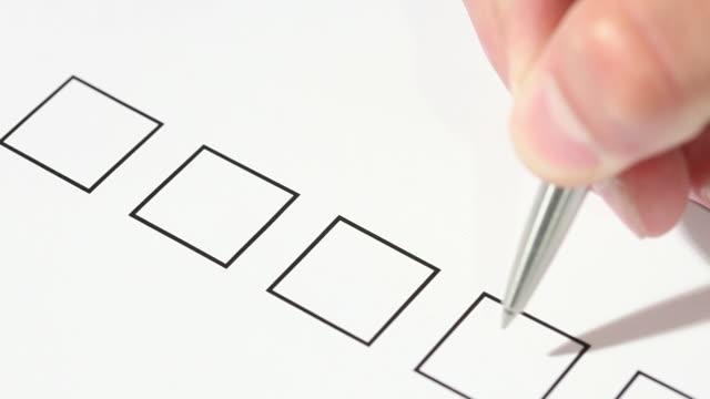 checklist - voting stock videos & royalty-free footage