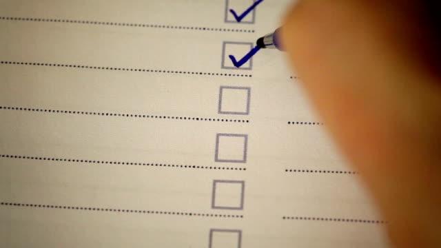 checklist - checklist stock videos & royalty-free footage