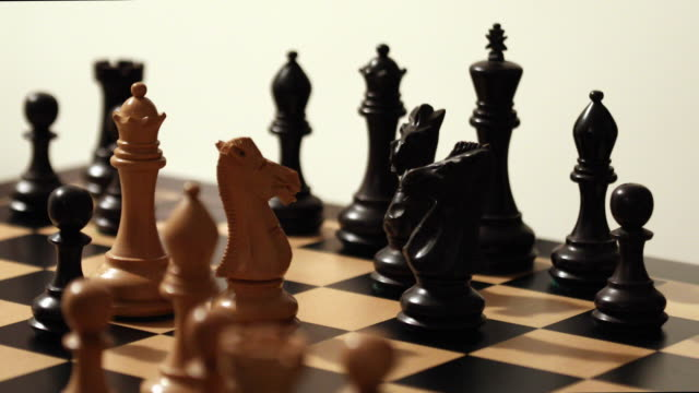 checkmate. - chess piece stock videos & royalty-free footage