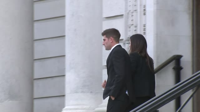 Ched Evans accused of rape in retrial Various shots Evans leaving court with Natasha Massey