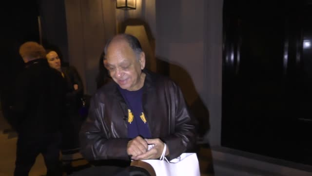 stockvideo's en b-roll-footage met interview cheech marin shares advice for richard pryor's son mason outside craig's in west hollywood at celebrity sightings in los angeles on march... - richard pryor