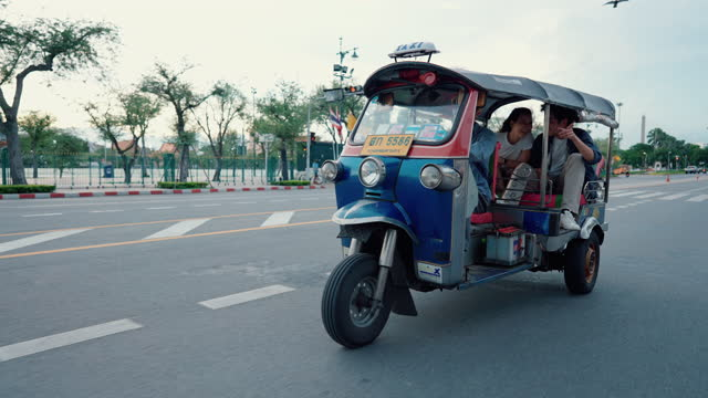 cheerful couples enjoy memorable moments together in a tuk tuk - rickshaw stock videos & royalty-free footage