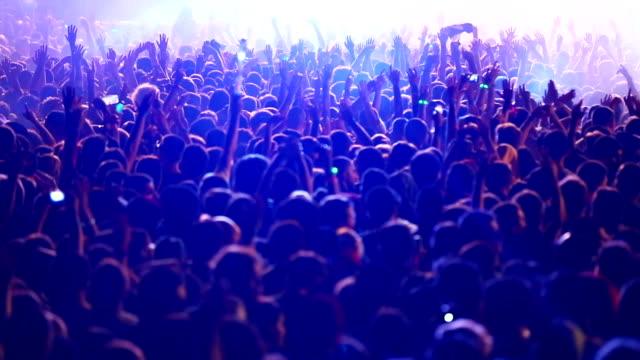 vídeos de stock, filmes e b-roll de alegre multidão no show - performance