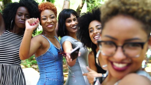 cheerful friends taking selfie - party social event stock videos & royalty-free footage