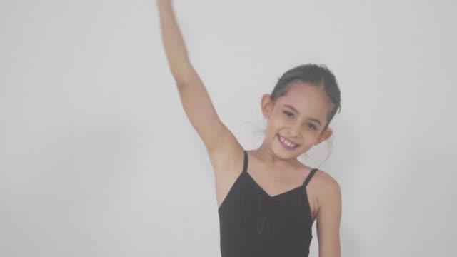 cheerful little ballerina - dance studio stock videos & royalty-free footage