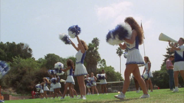 ms cheerleaders showing cheer dance - cheerleader stock videos & royalty-free footage