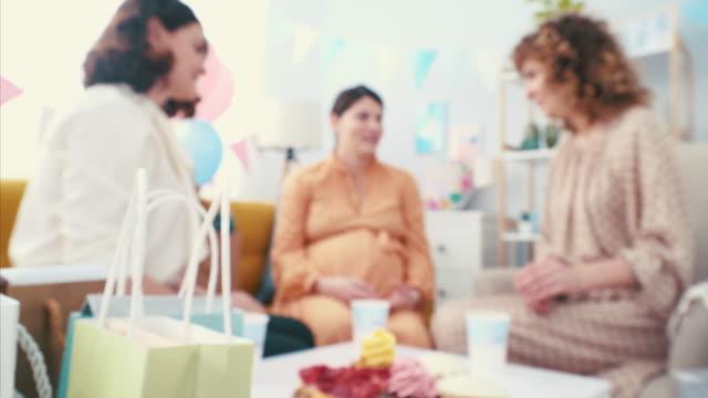 cheers, girls! - baby shower video stock e b–roll