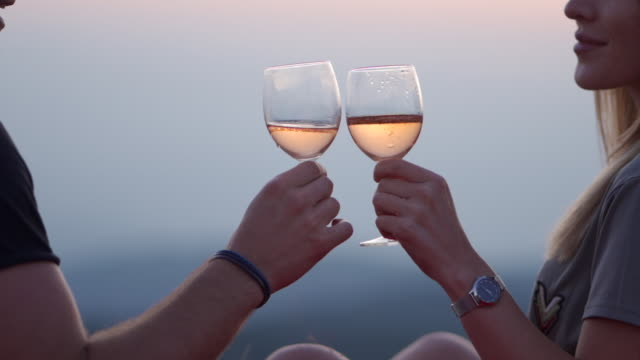 cheers to our love - white wine stock videos & royalty-free footage