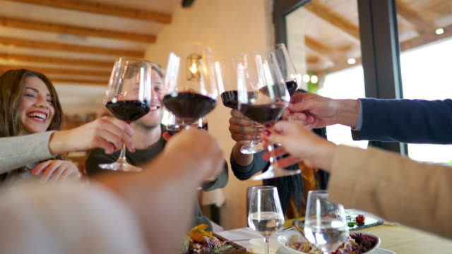 cheers to us, dear friends! - after work stock videos & royalty-free footage