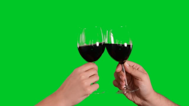 cheers - bicchiere da vino video stock e b–roll