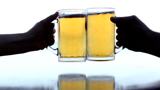 cheers - empty beer glass stock videos and b-roll footage