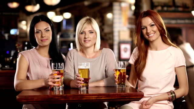 cheers! - ladies' night stock videos and b-roll footage