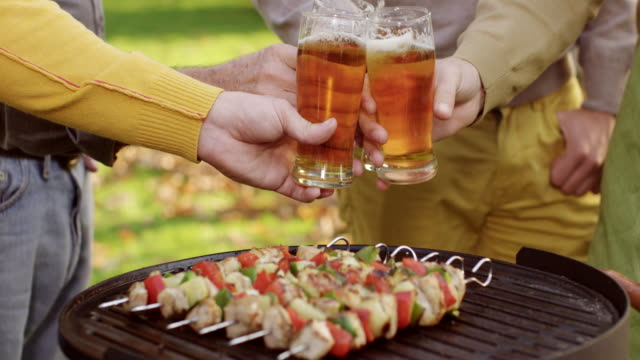 bbq cheers! - beer mug stock videos and b-roll footage