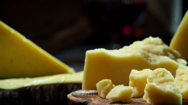 cheese and wine on the table - cheese stock videos & royalty-free footage