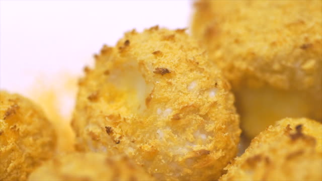 cheese ball close up - cheese ball stock videos and b-roll footage