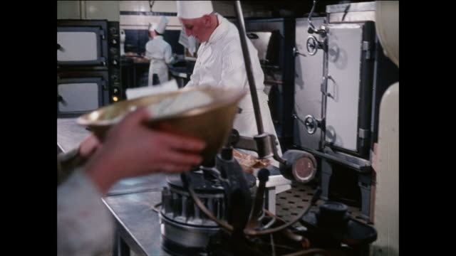 montage a chef bakes a batch of cookies / uk - baking stock videos & royalty-free footage