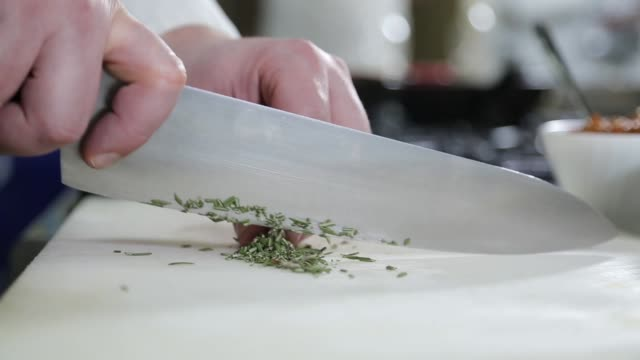 chef chopping vegetable - table knife stock videos & royalty-free footage