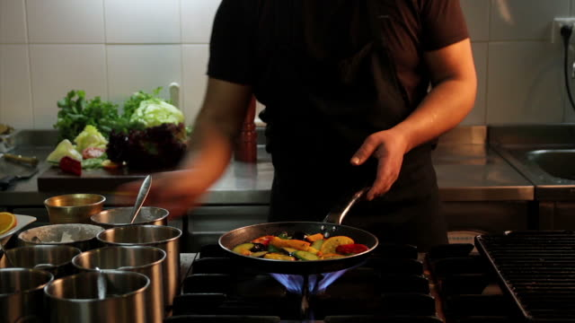 chef cooking - audio available stock videos & royalty-free footage