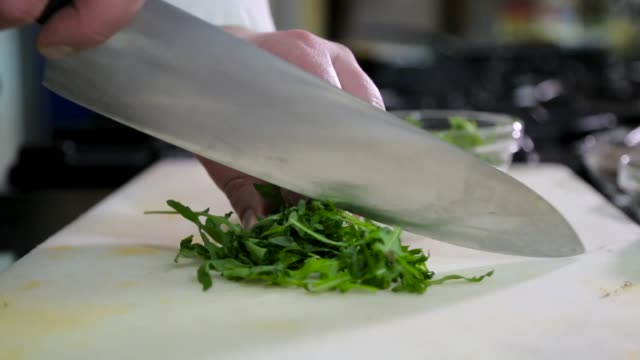 chef cutting parsley - parsley stock videos and b-roll footage