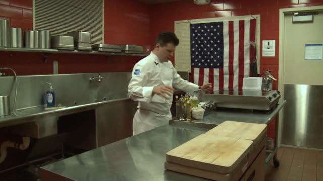 a chef from the rural state of west virginia is cooking up a storm in an attempt to become the first american to win the prestigious bocuse dor... - west virginia us state stock videos & royalty-free footage