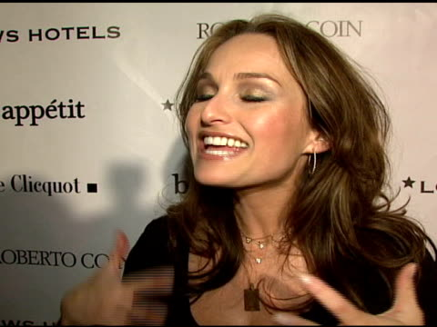 chef giada de laurentiis on the bon appetit supper club at the 2008 sundance film festival at bon appetit supper club in park city, utah on january... - park city stock videos & royalty-free footage