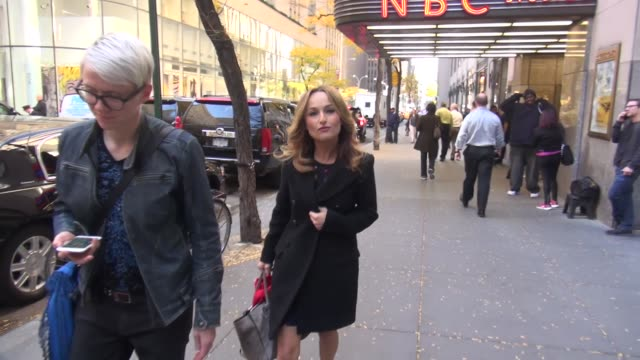 chef giada de laurentiis promoting her new cookbook 'happy cooking make every meal count…without stressing out' leaving nbc studios in celebrity... - happy meal stock videos & royalty-free footage
