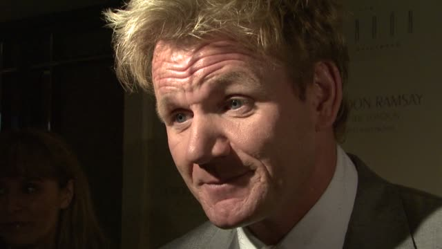 chef gordon ramsay on the event pleasing hollywood clientele his show what guests can expect the menu if he will be handson at the gordon ramsay at... - gordon ramsay stock videos and b-roll footage