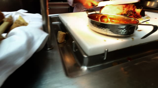 chef is cutting roast beef serving client on board cruise ship - roast beef stock videos & royalty-free footage