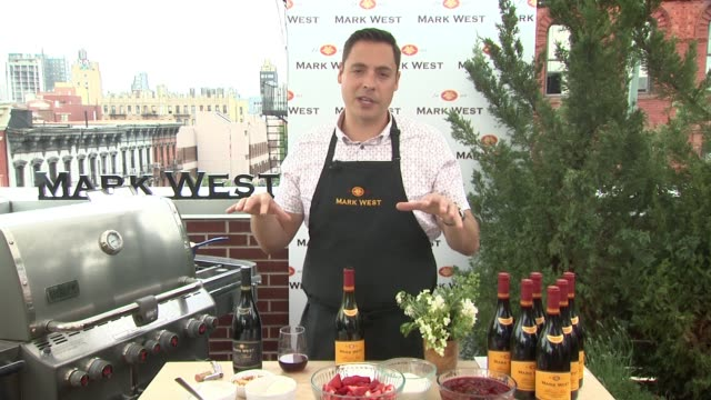 interview chef jeff mauro shares father's day grilling tips recipes and pairings with mark west wines at seefood media on may 24 2016 in new york city - media interview stock videos and b-roll footage