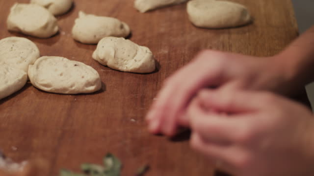 chef kneading dough - baked stock videos & royalty-free footage