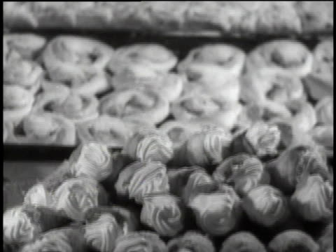 1939 tu chef making pastries / new ulm, minnesota, united states - food and drink stock videos & royalty-free footage