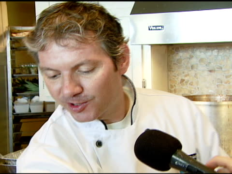 chef marc felix discusses cooking all the food with beer the recipes being inspired by russel crowe cooking at the plaza for many years and for... - anheuser busch inbev stock videos and b-roll footage