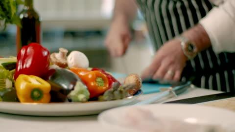 chef prepares fresh ingredients - raw food stock videos & royalty-free footage