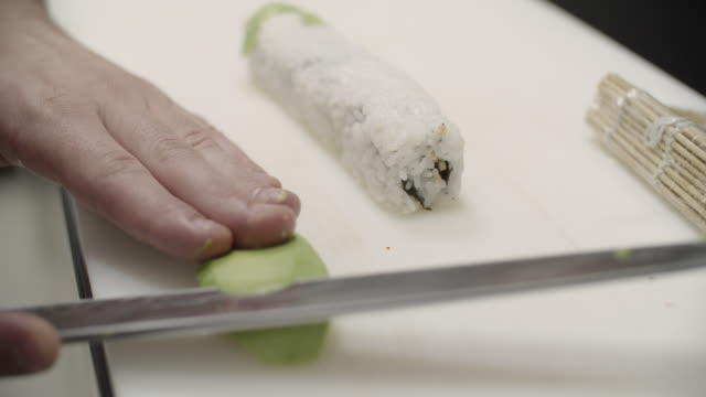 chef preparing sushi - washi paper stock videos & royalty-free footage