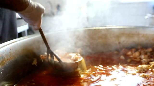 Chef serving hot food