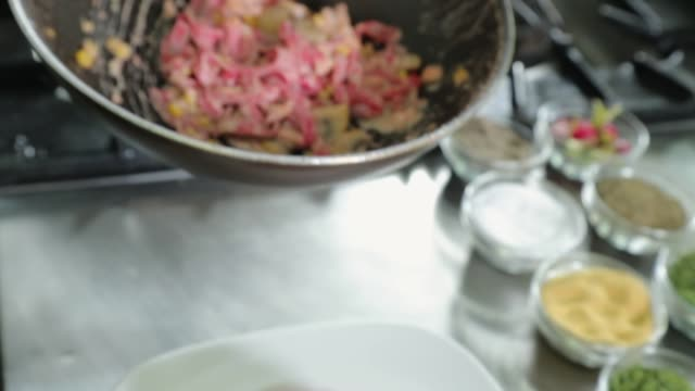 chef serving pasta - slice stock videos and b-roll footage