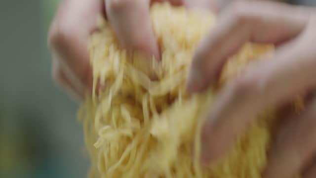 chef shakes fresh pasta - freshness stock videos & royalty-free footage